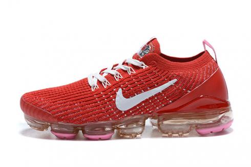 Nike Wmns Air VaporMax Flyknit 3 Track Red Pink Foam Magic Flamingo White CU4756-600
