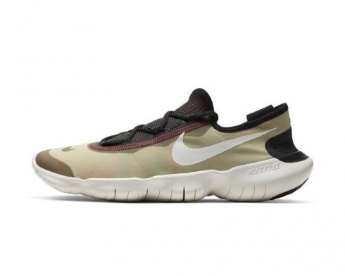 Nike Free RN 5.0 Olive Aura Black White Running Shoes CI9921-300