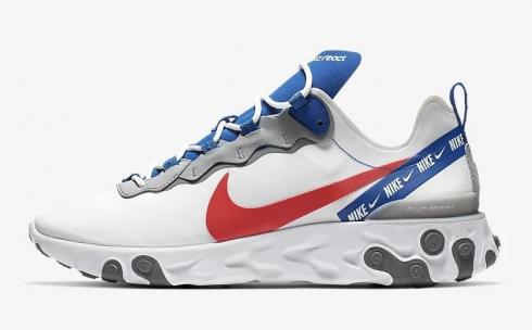 Nike React Element 55 White Game Royal