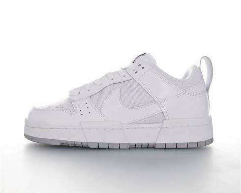 Nike Dunked Sportowe All White Running Shoes CU8876-104