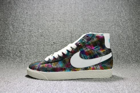 Perfect Wmns Nike Blazer Mid Sde Colourful Plaid Womens Shoes 822430-157
