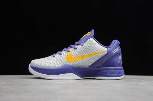 Nike Zoom Kobe VI White Purple Yellow Jaune Violet Blanc CW2190-104