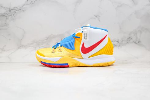 Nike Zoom Kyrie 6 Yellow Summite White Blue Basketball Shoes BQ4631-700