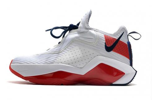 Lebron Soldier XIV 14 James USA White University Red Navy Basketball Shoes CK6047-100